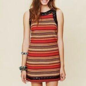 NWT-Free People Tangerine Rainbow Serape Dress